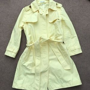 Gap Yellow Knee Length Coat